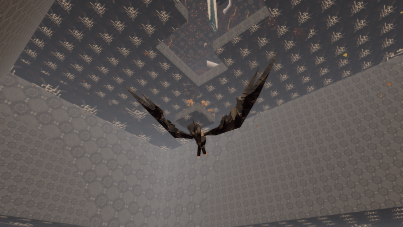 An eagle flies under the secret island